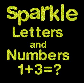 Yellow Sparkle Letters