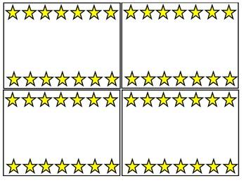 Yellow Star Border Blank Cards
