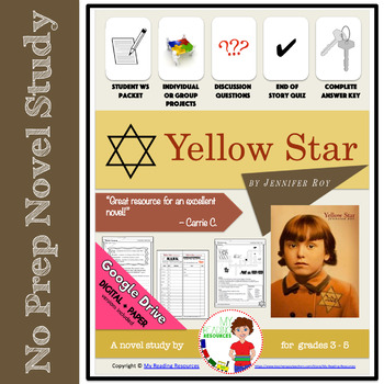 Yellow Star by Jennifer Roy Novel Study Packet