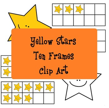 Yellow Stars Ten Frames - Stelline gialle analogiche