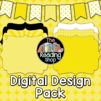 Yellow Patterned Digital Papers Frames Banner