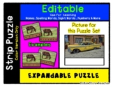 Yellow Taxi - Expandable & Editable Strip Puzzle w/ Multip