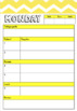 Yellow Teacher Planner