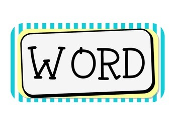 Yellow, Teal and Gray Word Wall Theme