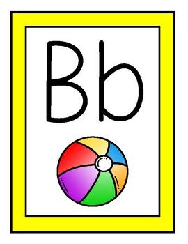 Yellow Theme Alphabet Posters