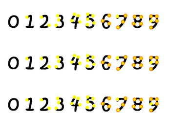 Yellow Touch Math Strips