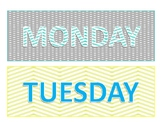 Yellow & Turquoise Days of The Week