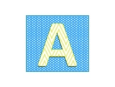 Yellow & Turquoise Letters