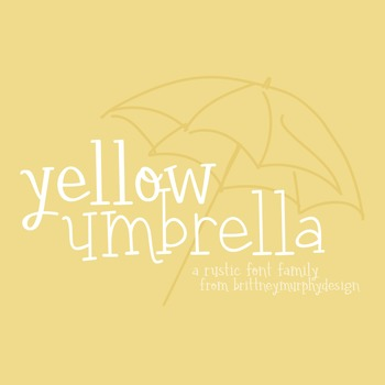 Yellow Umbrella Font Family for Commercial Use