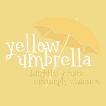 Yellow Umbrella Font for Commercial Use