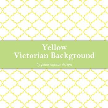 Yellow Victorian Pattern Background