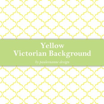 Yellow Victorian Pattern Background