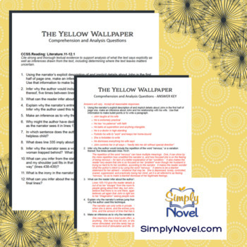 Yellow Wallpaper Common Core Assessment Practice Questions, Writing Activity