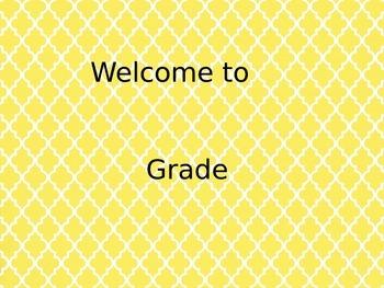 Yellow Welcome Door Sign