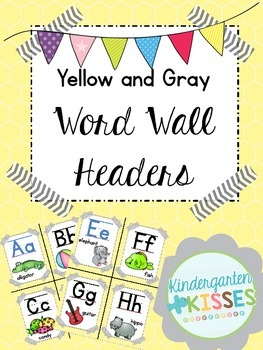 Yellow Word Wall Headers