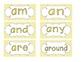 Yellow Zebra Print Word Wall Cards