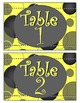 Yellow Zingy Dot Table Signs
