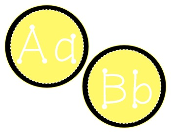 Yellow and Black Alphabet Classroom Display