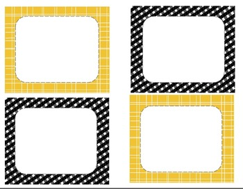 Yellow and Black Word Wall