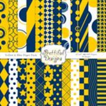 Yellow and Blue Paper Pack
