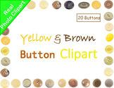 Buttons Yellow and Brown Real Photo Clipart