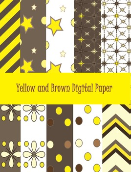 Yellow and Brown Digital Paper