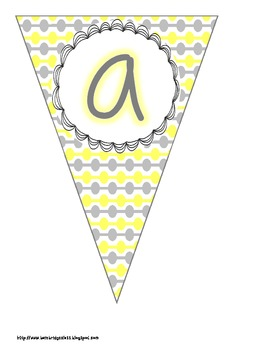 Yellow and Gray Buntings- Customize Your Own Banner!