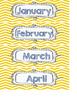 Yellow and Gray Chevron Math Calendar Set