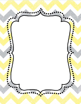Yellow and Gray Classroom Decor *Editable*