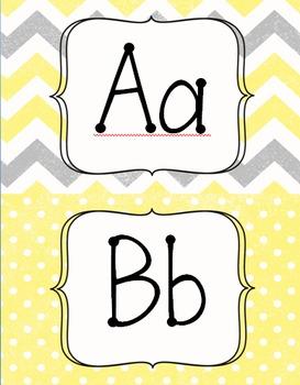 Yellow and Gray Classroom Decor *Editable*