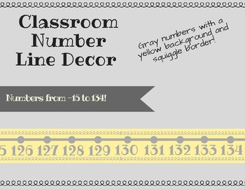 Yellow and Gray Number Line Decor