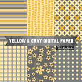 Digital Paper - Yellow Gray