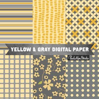 Digital Paper - Yellow Gray