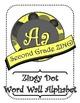 Yellow and Gray Zingy Dot Word Wall Alphabet