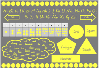 Yellow and Grey A4 Desk Mat/Display