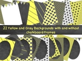 Yellow and Grey Backgrounds with Frames