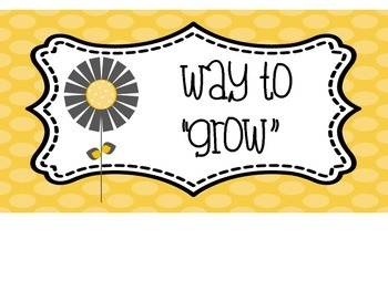 Yellow and Grey Flower Clip Chart Behavior