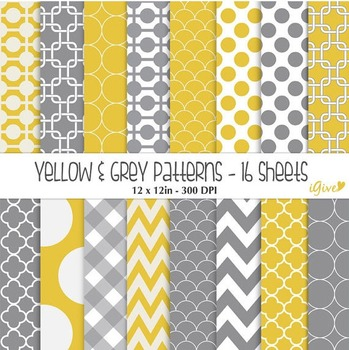 Yellow and Grey Geometrical Patterns