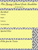 Yellow and Grey Newsletter