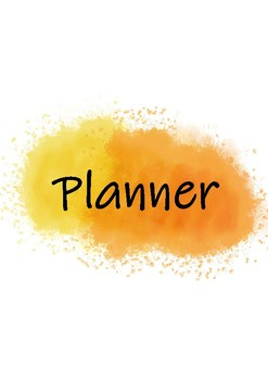 Yellow and Orange Planner