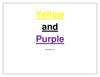 Yellow and Purple Book Paired and Repeated Reading Material