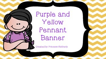 Yellow and Purple Pennant Banner
