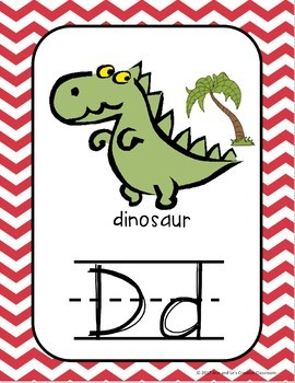 Yellow and Red Chevron Alphabet, Right and Left, and Digraph Posters