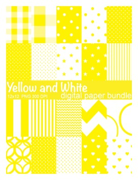 Yellow and White Digital Paper