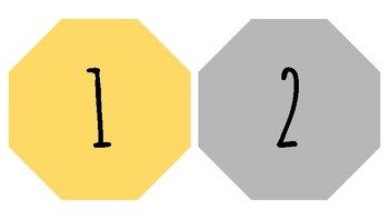 Yellow and gray student numbers