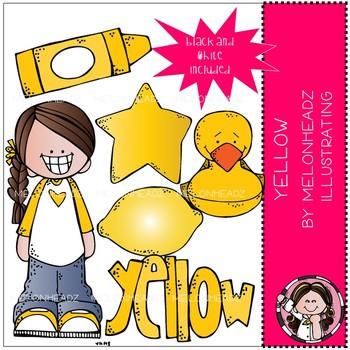 Yellow clip art - Mini - by Melonheadz