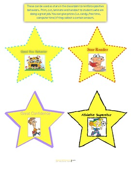 Yellow stars for positive reinforcement