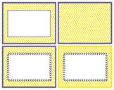 Yellow w Purple Boarder Chevron in Powerpoint.