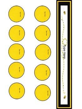Yellow&Black Editable Teacher Binder/Calendar Set