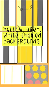 YellowGreyWhite Digital Backgrounds